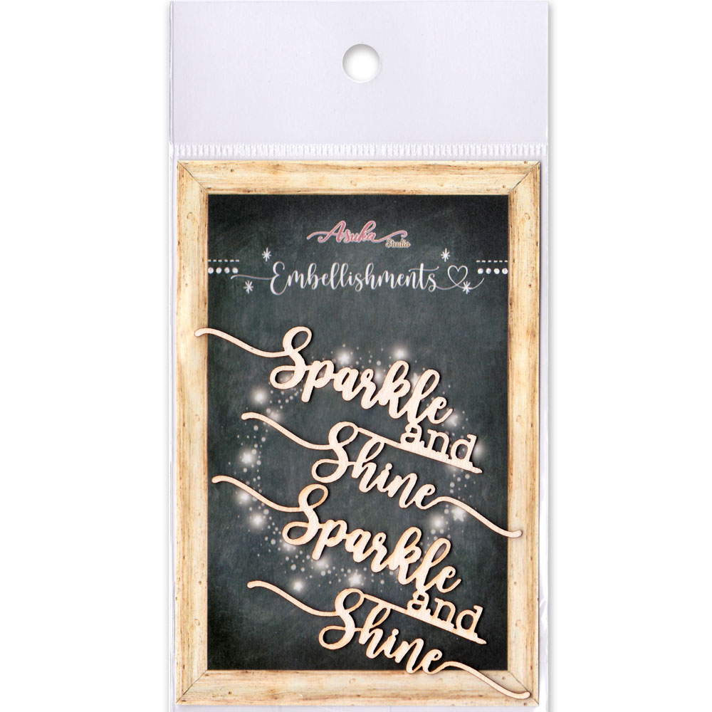 MP-60655  Chipboard Embellishment Sparkle & Shine / 2pcs