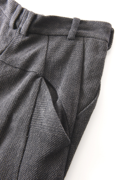DEVOA(デヴォア) Easy pants wool silk crazy check