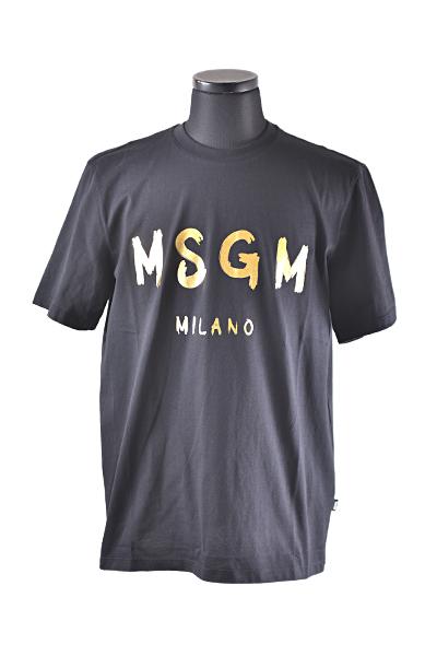 MSGM(エムエスジーエム) メンズ Tシャツ 【MSGM MILANLロゴ Tシャツ】