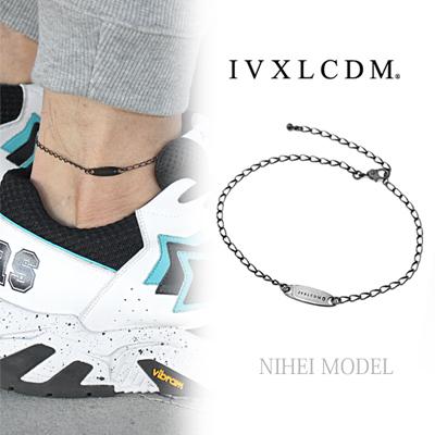 IVXLCDM(アイブイエックスエルシーディーエム)  OVAL CHAIN ANKLET+サファイア1pc (NIHEI MODEL)
