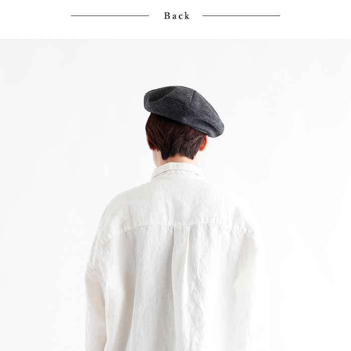 atelier brugge アトリエブルージュ<br>ヘリンボーンウールマリンベレー帽<br>【ZK】(82ABR-29HN17)(2018411)