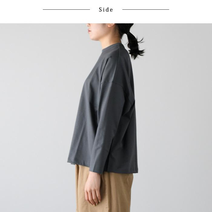 TRAVAIL MANUEL トラバイユ マニュアル<br>しっかり素材のコットン ロングTシャツ(長袖)<ミディ天竺 L/S-T><br>【AP】(01TM-201005)(2020063)[SO]