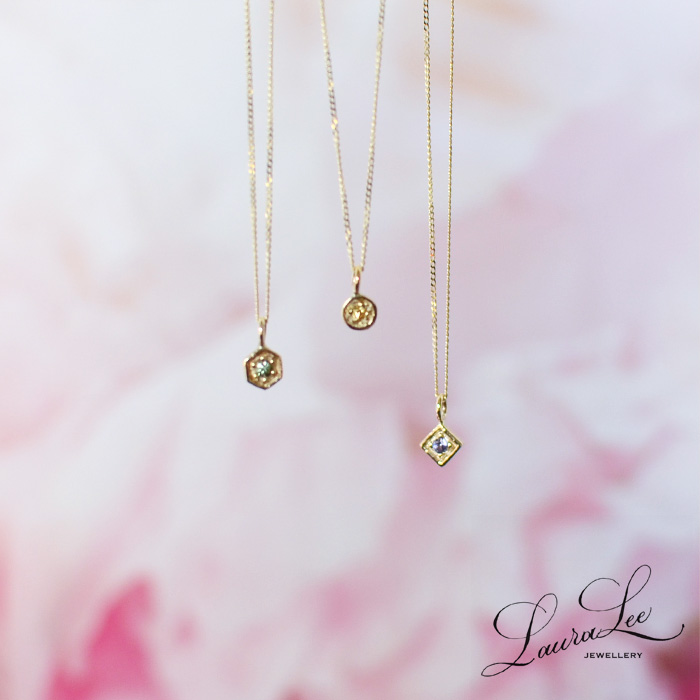 Laura Lee JEWELLERY ローラリージュエリー<br>サファイア プチ ネックレス<br>(ASLL-N2)[SO]