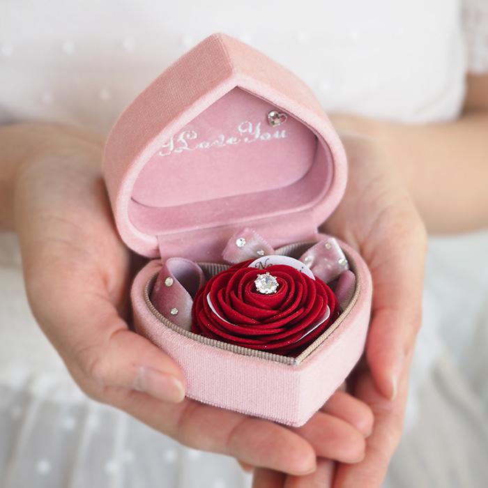 ※完売しました※男女のバラ製テディベア「ローズベアー・カップル」