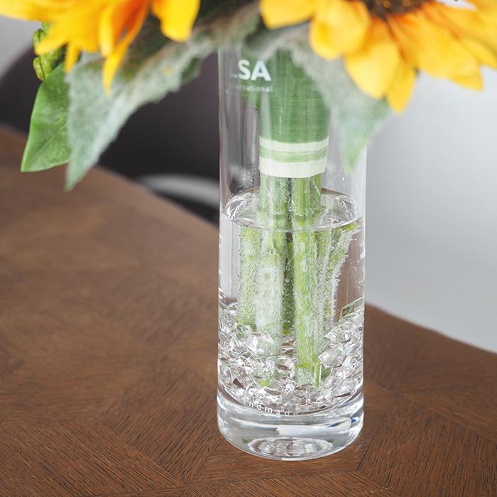 【プロポーズ・誕生日・記念日】ひまわりの花束(ガラス花瓶セット)