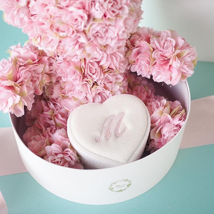 ※完売しました※【プロポーズ・記念日・誕生日】ローズベアー・カップル(男女のバラ製テディベア)