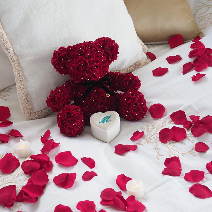 数限定【プロポーズ・誕生日・記念日】ローズベアー(365輪の赤バラ製テディベア)