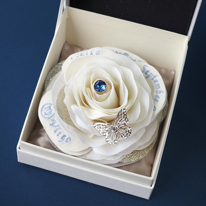【9月生まれの誕生日プレゼント】誕生石ローズボックス(9月ブルーサファイア)