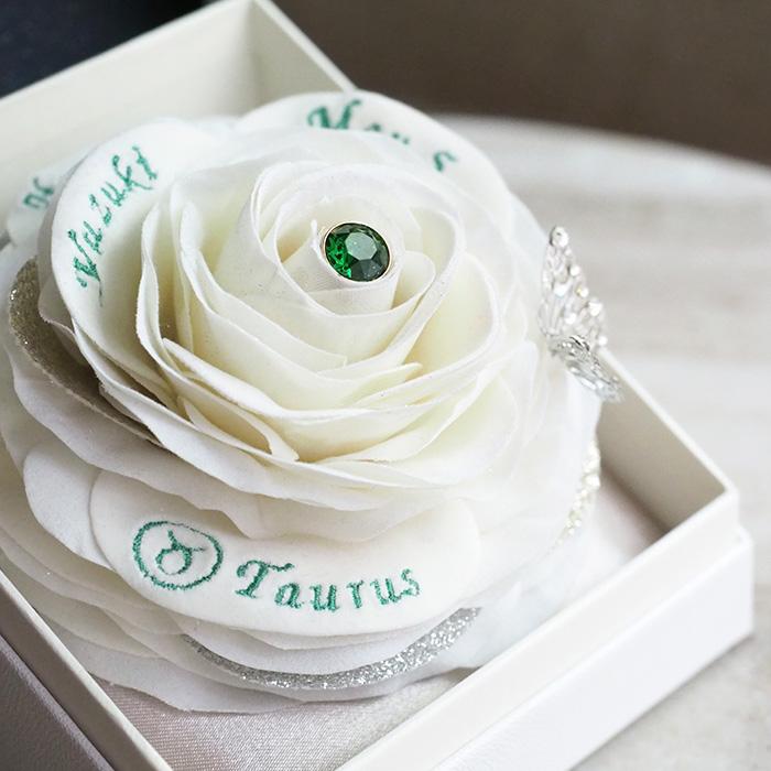 【5月生まれの誕生日プレゼント】誕生石ローズボックス(エメラルド)