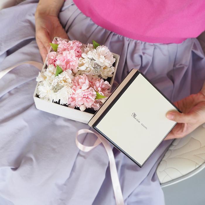 桜ピンクのボックスフラワー【誕生日・結婚記念日】