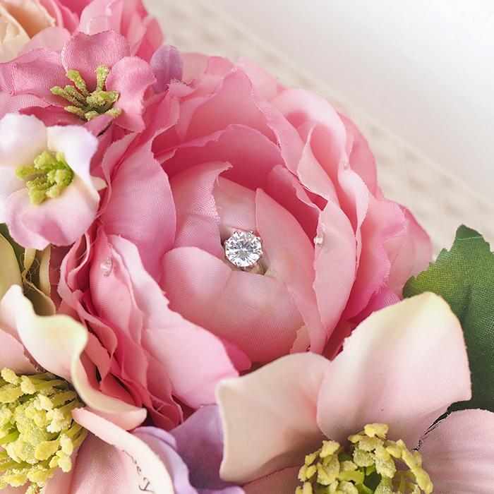 ※完売しました※【プロポーズ専用】メッセージフラワーバッグ エタニティ(ピンク系花アレンジ)