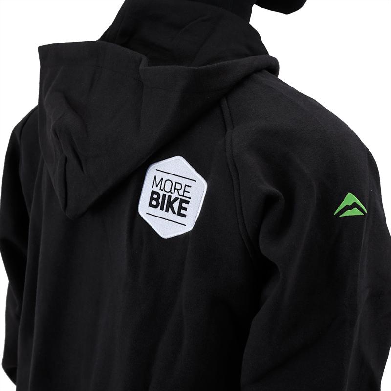 フードジャケット ロングジップ MORE BIKEエディション ブラック