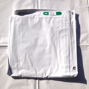 【10枚セット】白防炎シート 1.8m x 3.6m (P450)
