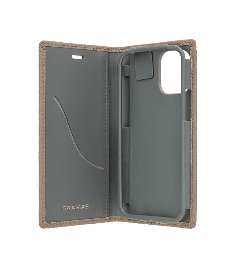 "GRAMAS(グラマス)Shrunken-calf Leather Book Case for New iPhone 5.4""GB"