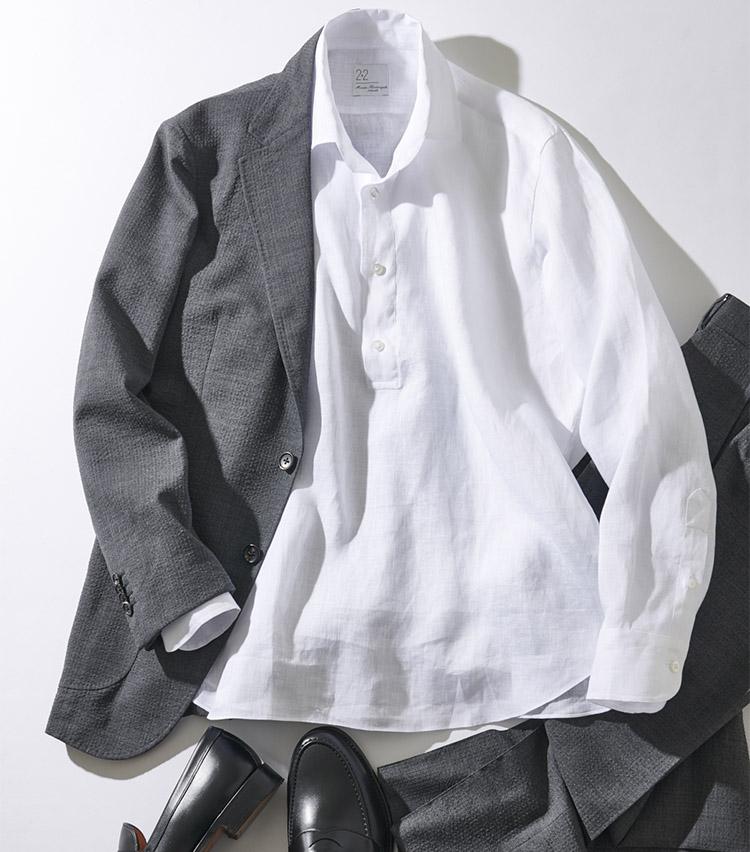 Maria Santangelo(マリア・サンタンジェロ)リネンカプリシャツ