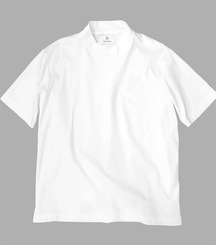 RIVORA(リヴォラ)Extra Cotton Mock Neck T-Shirts