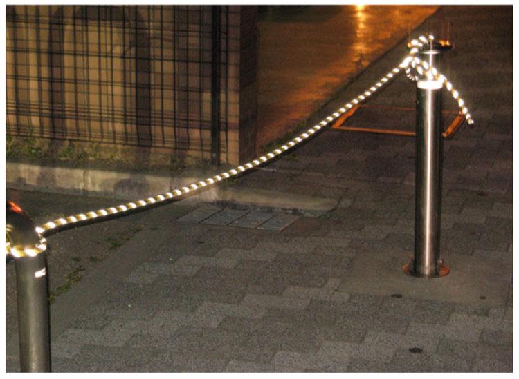反射ラインロープ SF-A101(10mmΦX20m 【トラ】  1巻)