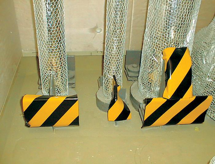 トラクッション(反射タイプ)(幅100mmX長さ1000mmX色黄/黒(縞幅90mm)  5枚)