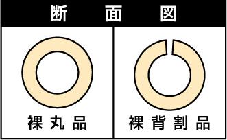 【法人限定商品】カブセール V40 内径49mm×外径69mm×厚み10mm×長さ2000mm  (25本セット)
