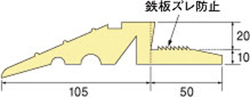 段差スロープA(敷き鉄板用)(幅155mmX長さ1500mm 色:黄  4枚)