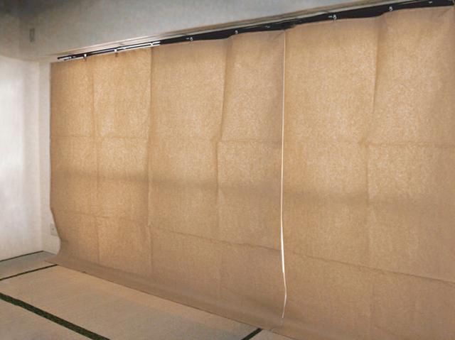 日除けクレープカーテン2000(幅2000mmX高さ2000mm 50枚セット)