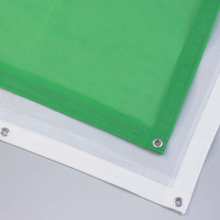 防炎ラッセルメッシュシート(グリーン)(幅1.8mX長さ3.4m  15枚)