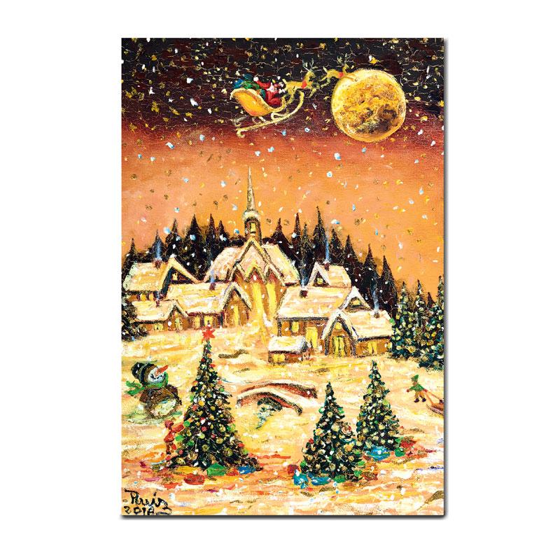 クリスマスの絵葉書 【メリークリスマス】 �97