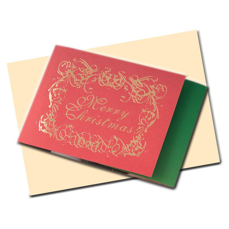 クリスマスカード 【サンタのスノードーム】 �648 【金箔】