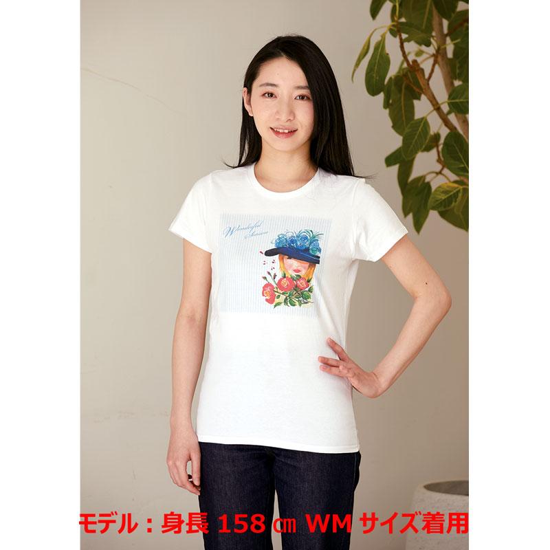 アートTシャツ ホワイト 【タイトなシルエット】