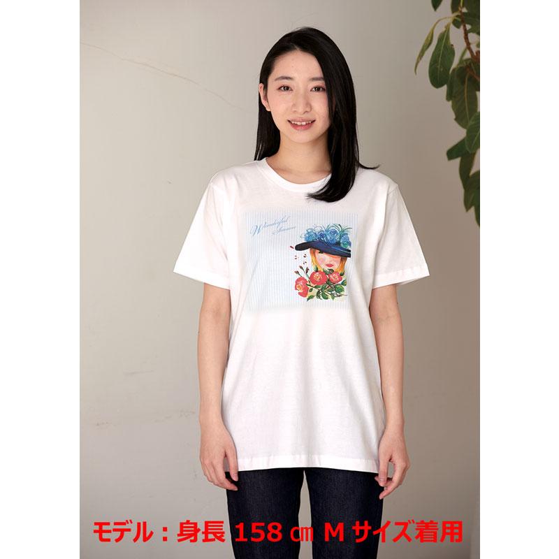 アートTシャツ ホワイト 【ゆったりめのシルエット】