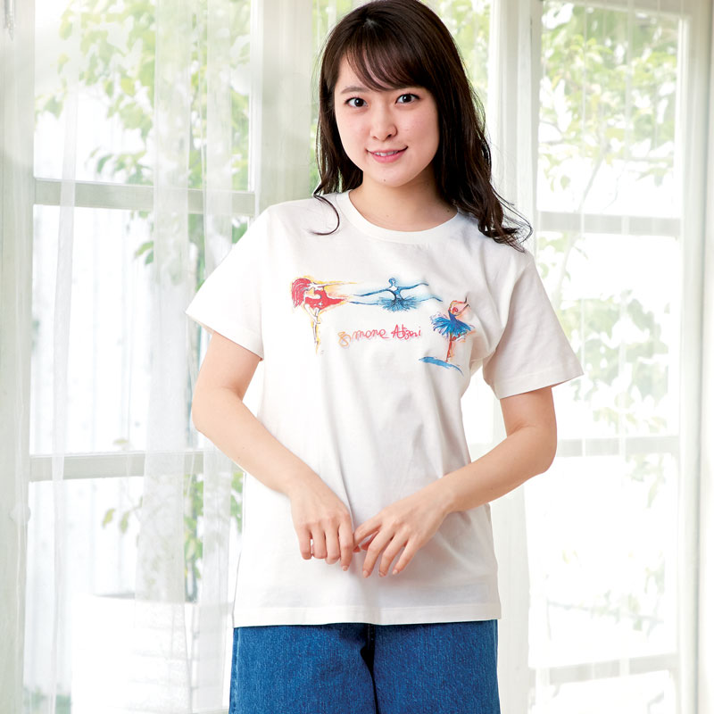 アートTシャツ オフホワイト 【バレエダンサー】