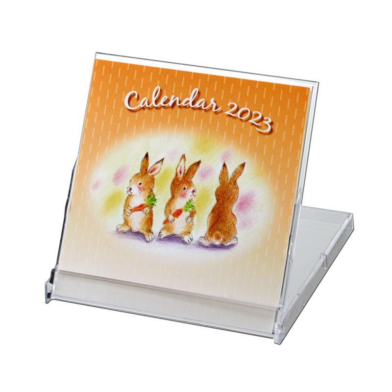 ミニカレンダー 【西岡 良介が描いた微笑ましい動物たちの世界】 �399