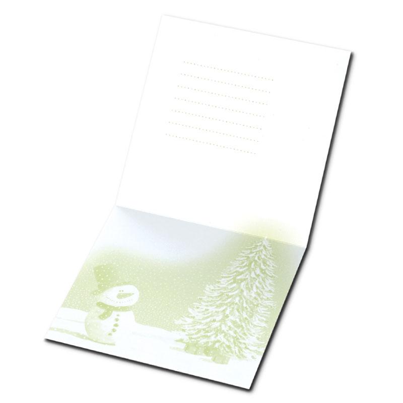 クリスマスカード 【温かいタッチのクリスマス】 �631 【金箔押し】