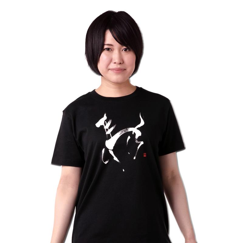 Tシャツ ブラック 【馬】