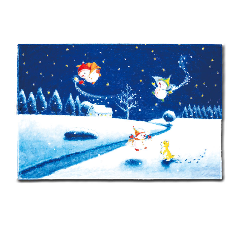 フリースひざ掛け 【雪だるまの妖精】 �897