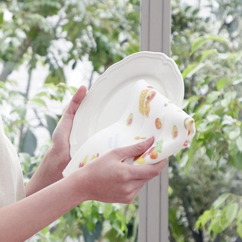 かや生地ふきん 【可愛い食材とキッチンツールのデザイン】 �856