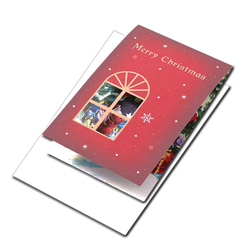 クリスマスカード 【赤と金で高級感あふれる】 �651
