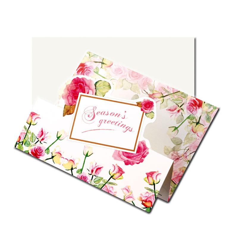 グリーティングカード 【美しいバラの絵】 �670
