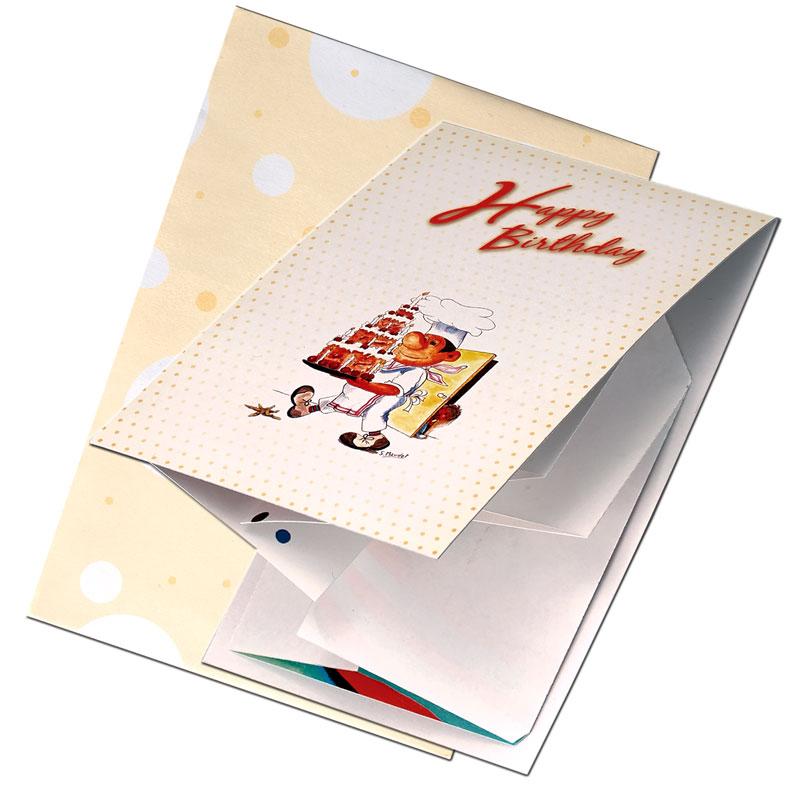バースデーカード 【カードを開くと大きな絵!】 �655