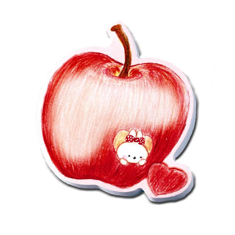 マスコットスティッカー 【リンゴに白うさぎ】 �548
