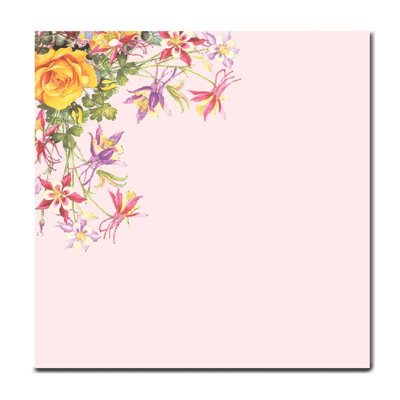 フラワーメモ 【上品な花をあしらった】 �142