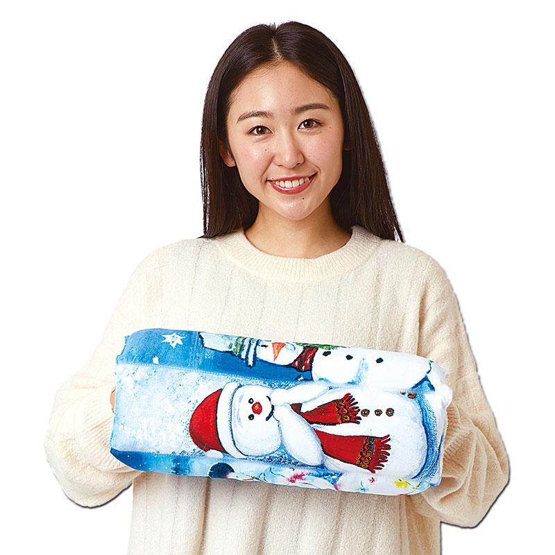 マルチクッション 【海外画家の雪だるま】 �823
