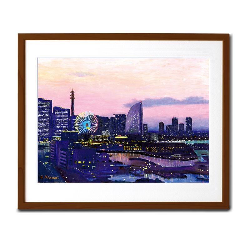 複製画 【横浜 Night View】 �F122
