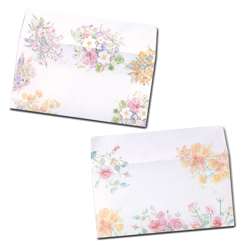 封筒セット 【洋花 横型】 �785