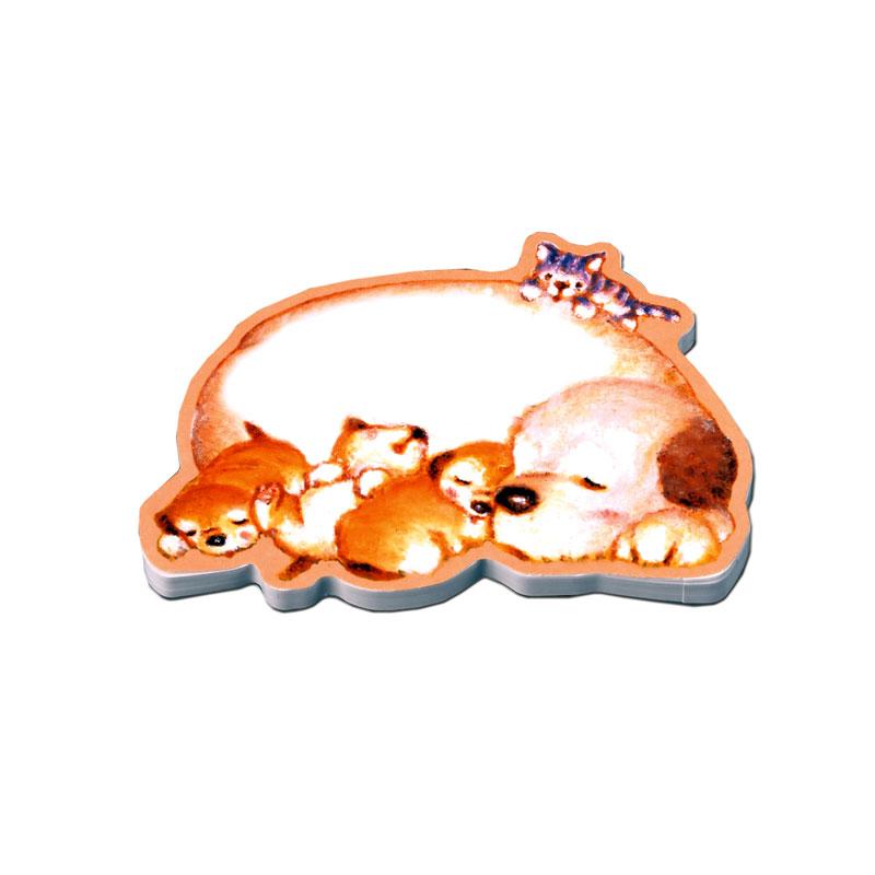 マスコットスティッカー 【すやすや眠る母犬と子犬たち】 �367