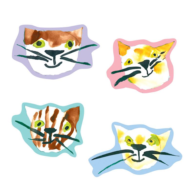 シール型マスキングスティッカー 【おもしろネコがシールに】 �519