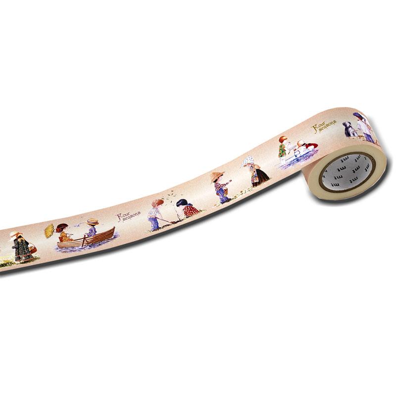 マスキングテープ30ミリ幅 【男の子と女の子が遊ぶ】 �156