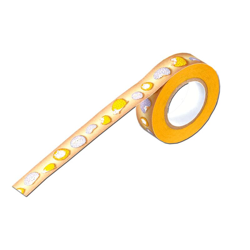 マスキングテープ15ミリ幅【パステルカラーのハリネズミ君】 �537