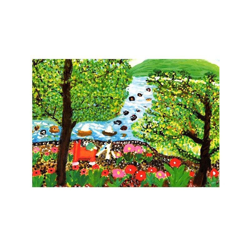 絵葉書 【花のある風景】 �343