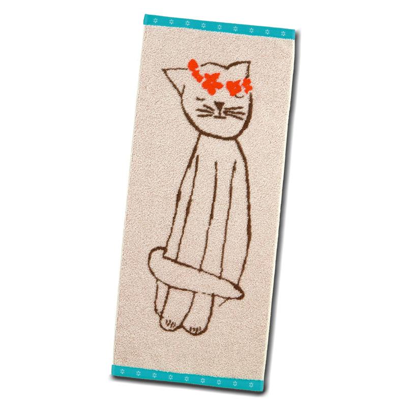 フェイスタオル 【チャーミングなネコ】 �462 【今治のタオル】